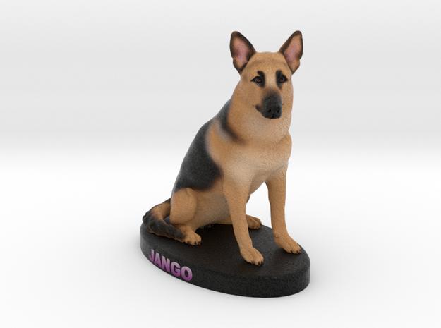 Custom Dog Figurine - Jango in Full Color Sandstone
