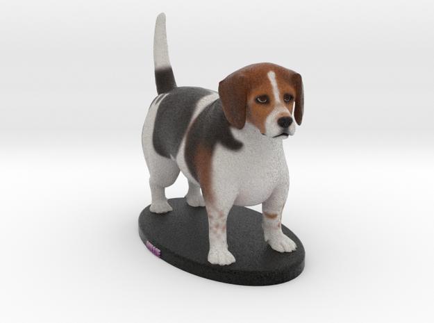 Custom Dog Figurine - Millie in Full Color Sandstone