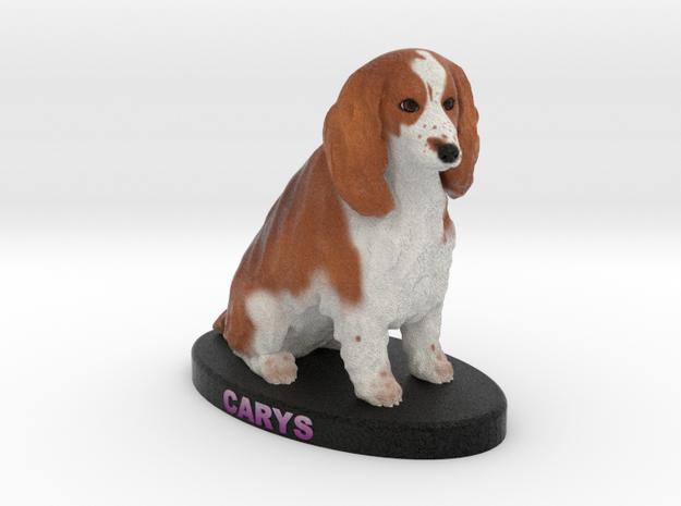 Custom Dog Figurine - Carys in Full Color Sandstone