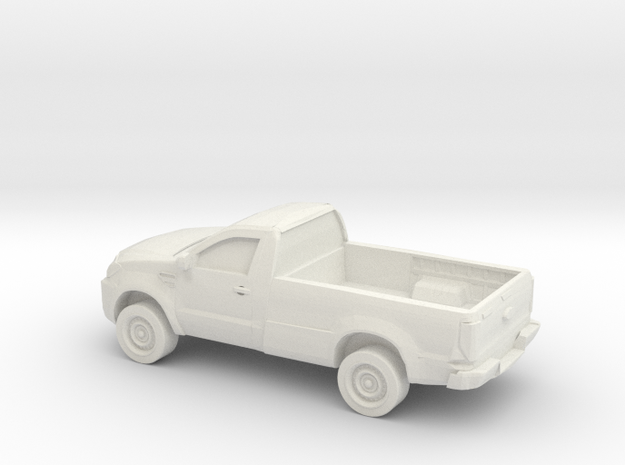 1/87 2015 Toyota Hilux Single Cab in White Natural Versatile Plastic
