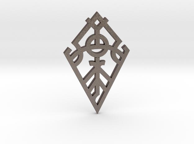 Creation / Creación in Polished Bronzed Silver Steel