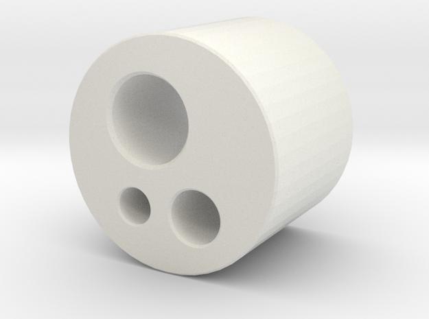 Borden Connector in White Natural Versatile Plastic