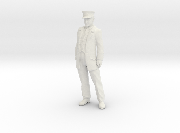Conductor Cy Crumley Standing 1:20 scale WSF in White Natural Versatile Plastic
