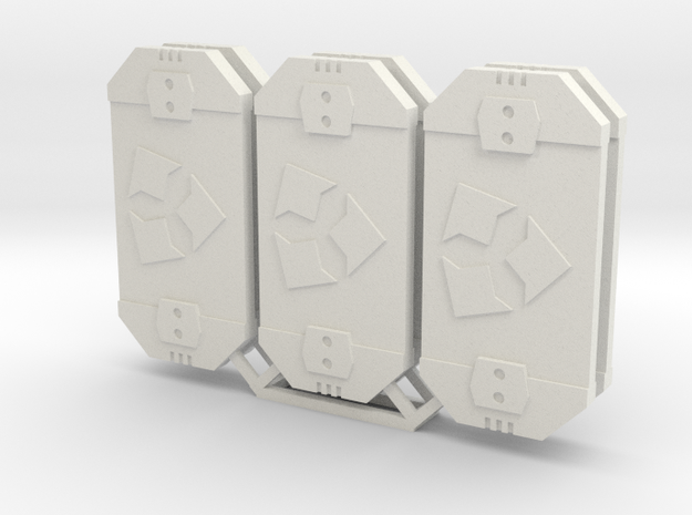 Star Wars Armada Scatter Defense Tokens in White Natural Versatile Plastic