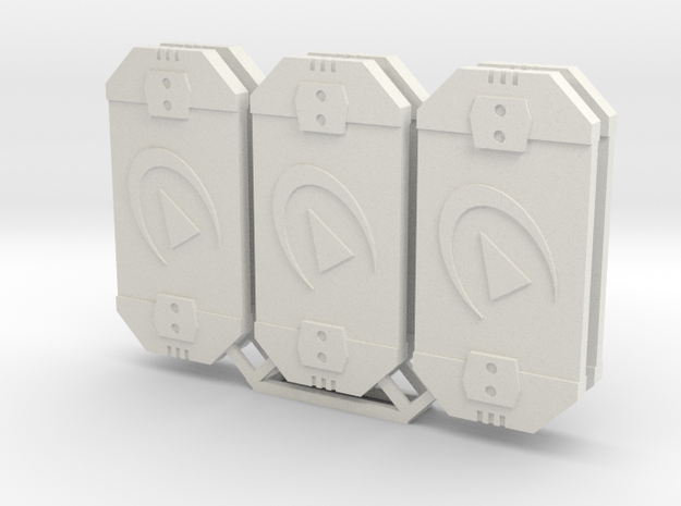 Star Wars Armada Redirect Defense Tokens in White Natural Versatile Plastic