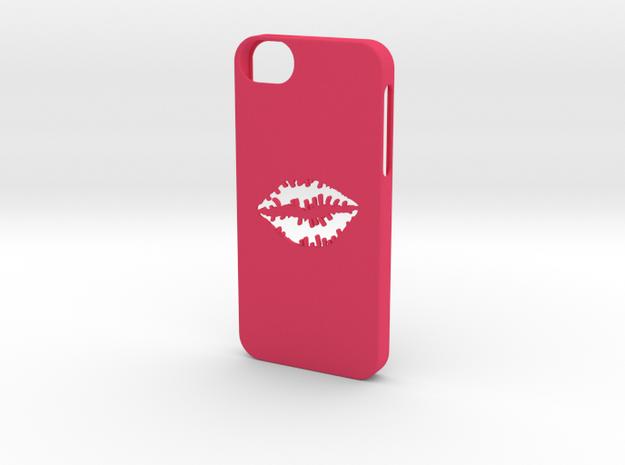 Iphone 5/5s kiss case in Pink Processed Versatile Plastic
