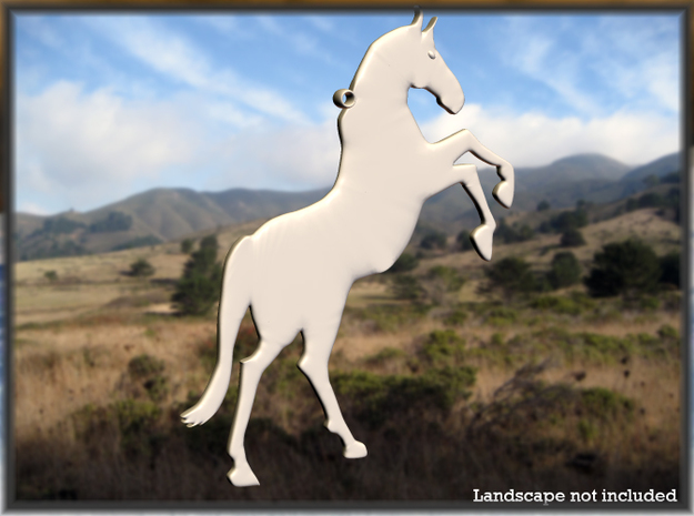 Rampant Horse in White Natural Versatile Plastic