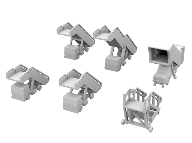 1:200 - Airstairs_v1,2,3,4,5 & 6 [x1] in Smooth Fine Detail Plastic