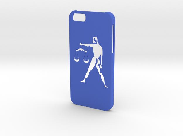Iphone 6 Libra case in Blue Processed Versatile Plastic