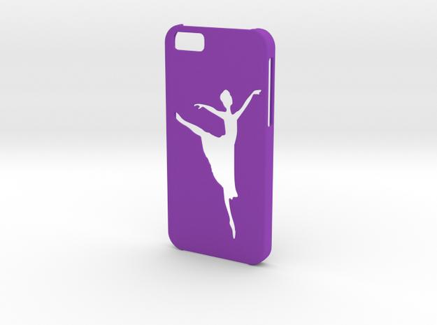 Iphone 6 Ballet dancer case in Purple Processed Versatile Plastic
