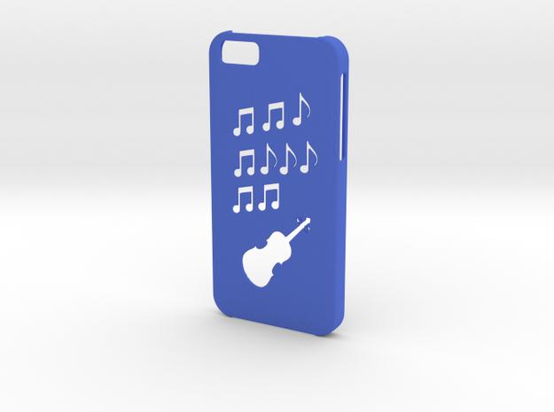 Iphone 6 Music case in Blue Processed Versatile Plastic