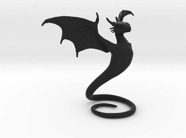 Desk Dragon in Black Natural Versatile Plastic