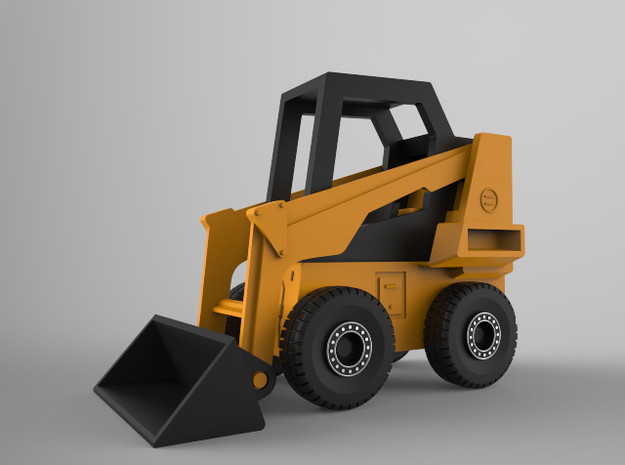 Bobcat Loader (1:100 Scale) in Smooth Fine Detail Plastic