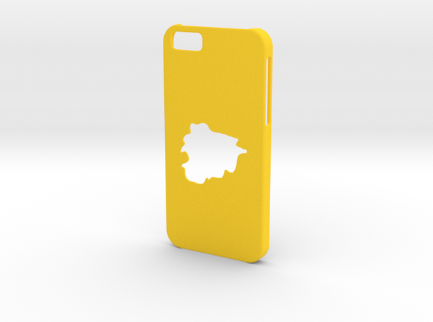 Iphone 6 Case Andorra in Yellow Strong & Flexible Polished