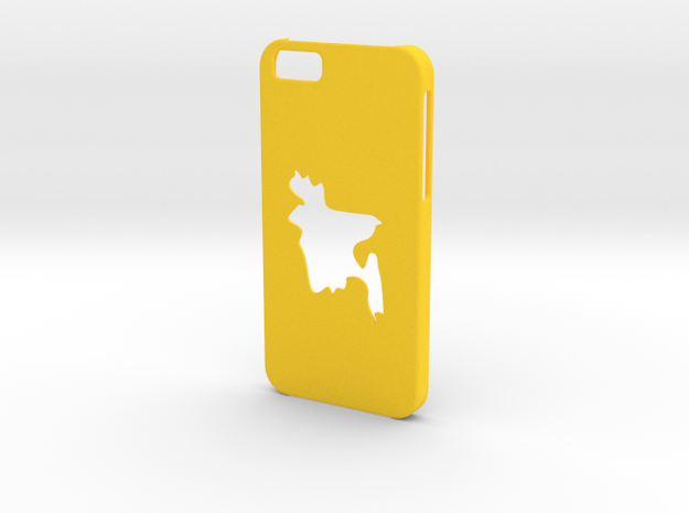Iphone 6 Bangladesh Case in Yellow Strong & Flexible Polished