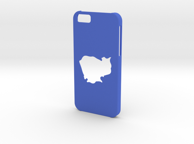 Iphone 6 Cambodia Case in Blue Processed Versatile Plastic