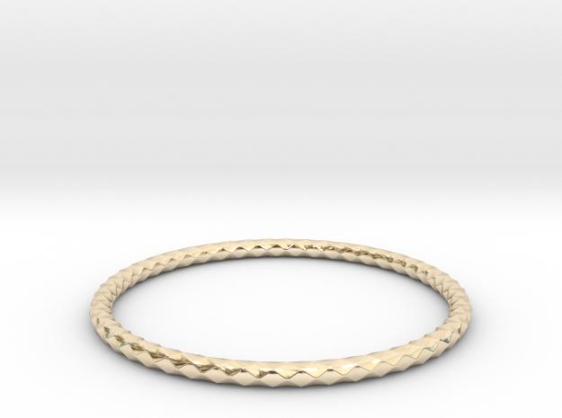 Diamond Pattern Bracelet USA Size Large in 14K Gold