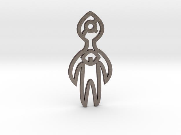 Angel in Polished Bronzed Silver Steel