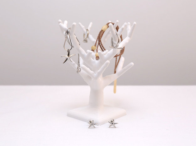 Coral Tree Jewelry Stand in Natural Sandstone
