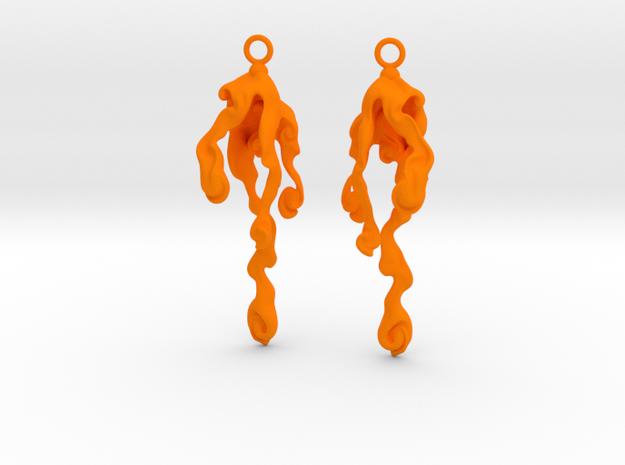 Element Earrings: Water 3d printed