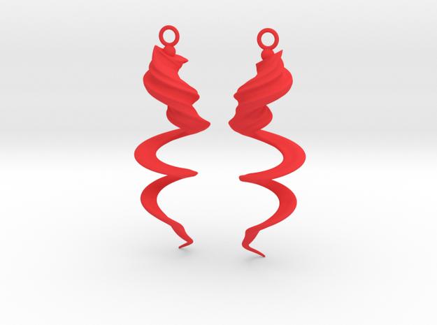 Element Earrings: Wind 3d printed