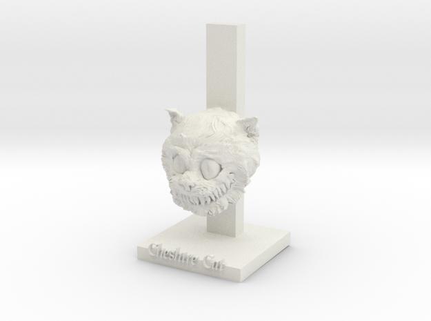 Cat Smile in White Natural Versatile Plastic