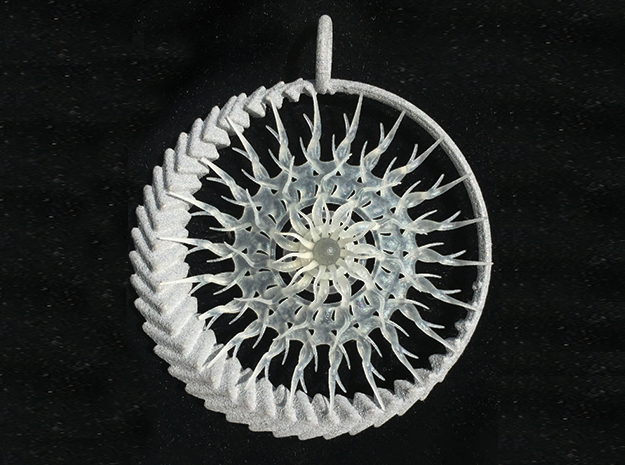 Emergence 2 pendant in Smoothest Fine Detail Plastic