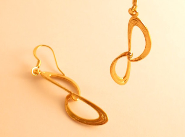 Elhadj Sprot Earrings Pair in 18K Gold Plated