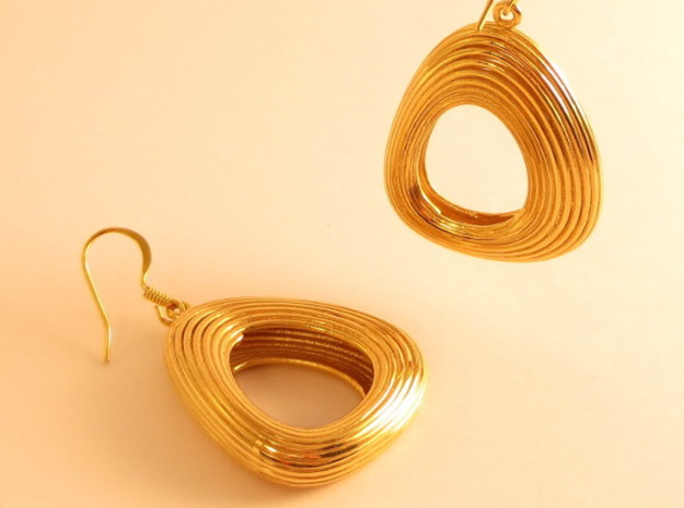 Lotka Volterra Earrings Pair in 18K Gold Plated
