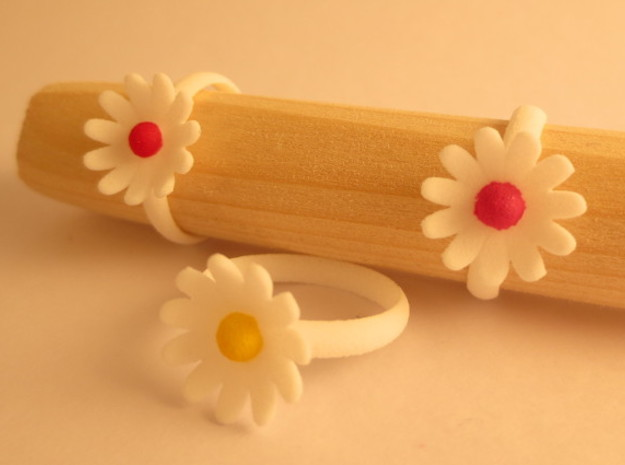 Daisy Ring in White Strong & Flexible Polished: 7 / 54