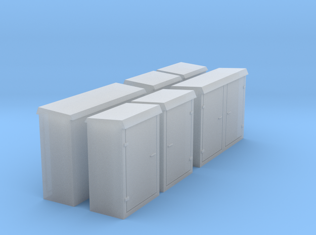 Relay cabinets N scale  in Smooth Fine Detail Plastic
