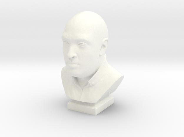 Human head bust 3d printed