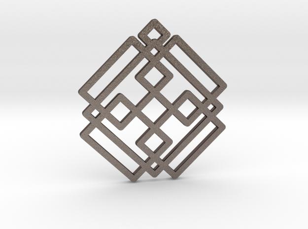 Celtic Star / Estrella Celta in Polished Bronzed Silver Steel