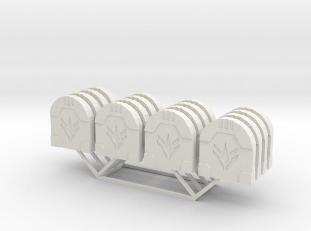 Star Wars Armada Squadron ID Tokens in White Natural Versatile Plastic