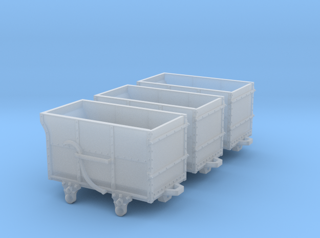 3x FR Dandy wagons in Smooth Fine Detail Plastic