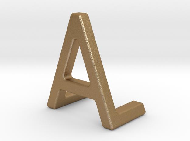 AL LA - Two way letter pendant in Matte Gold Steel