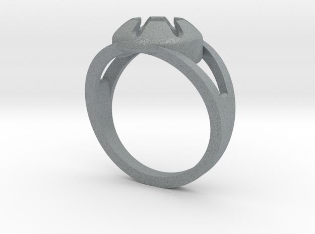 Matrix Ring in Polished Metallic Plastic
