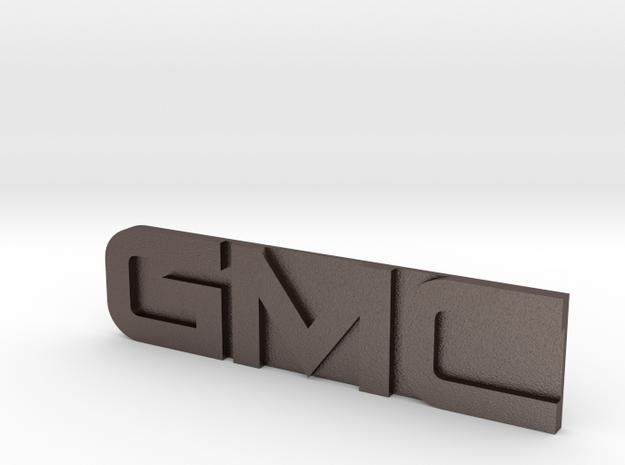 GMC Emblem in Polished Bronzed Silver Steel