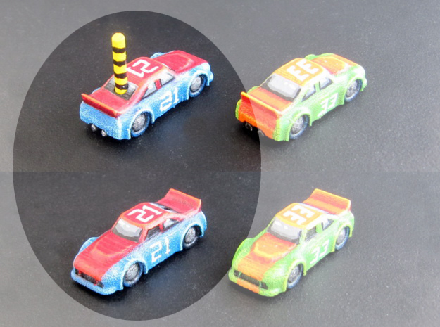 Miniature cars, NASCAR (42 pcs) - Hole variant