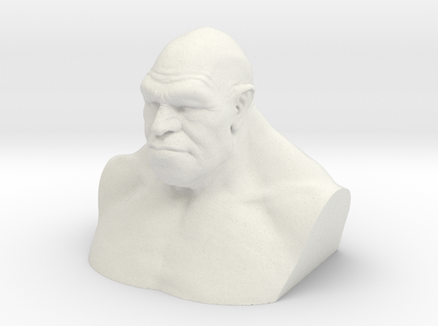 Neanderthal Hollowed in White Natural Versatile Plastic