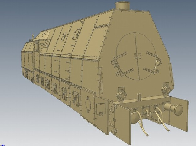 1-72 BR 57 Armored Locomotive For BP-42
