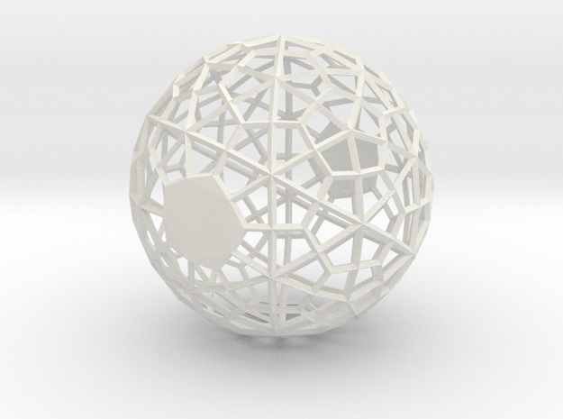 Wireframe Sphere in White Strong & Flexible