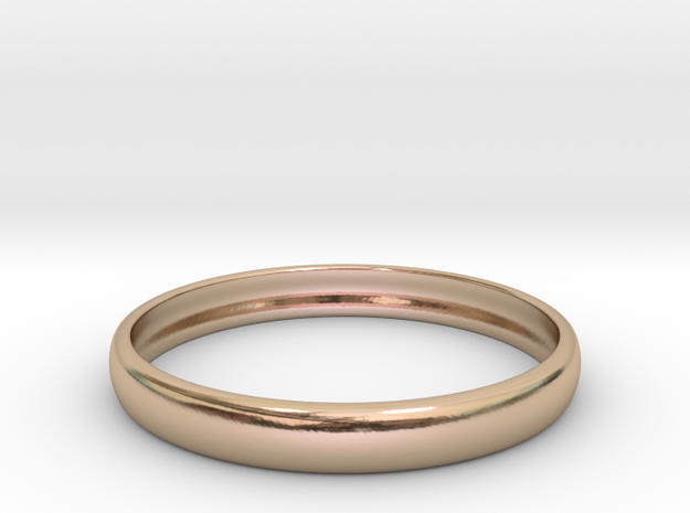 PA RingEasyCT12t08H3d22 in 14k Rose Gold Plated Brass