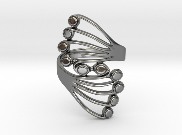 Butterfly Wing Ring Size 14 in Polished Silver