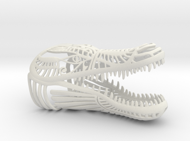 Egyptian Crocodile in White Natural Versatile Plastic