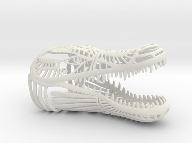 Egyptian Crocodile in White Natural Versatile Plastic