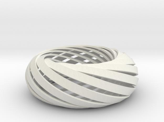 Torus of Mobius Strips in White Natural Versatile Plastic