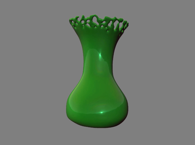 Liquid vase in White Strong & Flexible