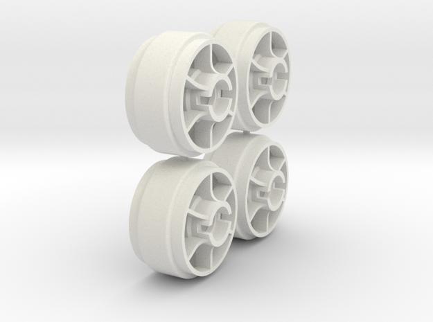 Mini-Z Wheels Ultralight for Slot-it pt29 in White Natural Versatile Plastic