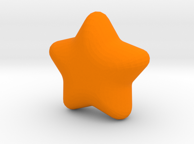 Cute candy Star in Orange Processed Versatile Plastic